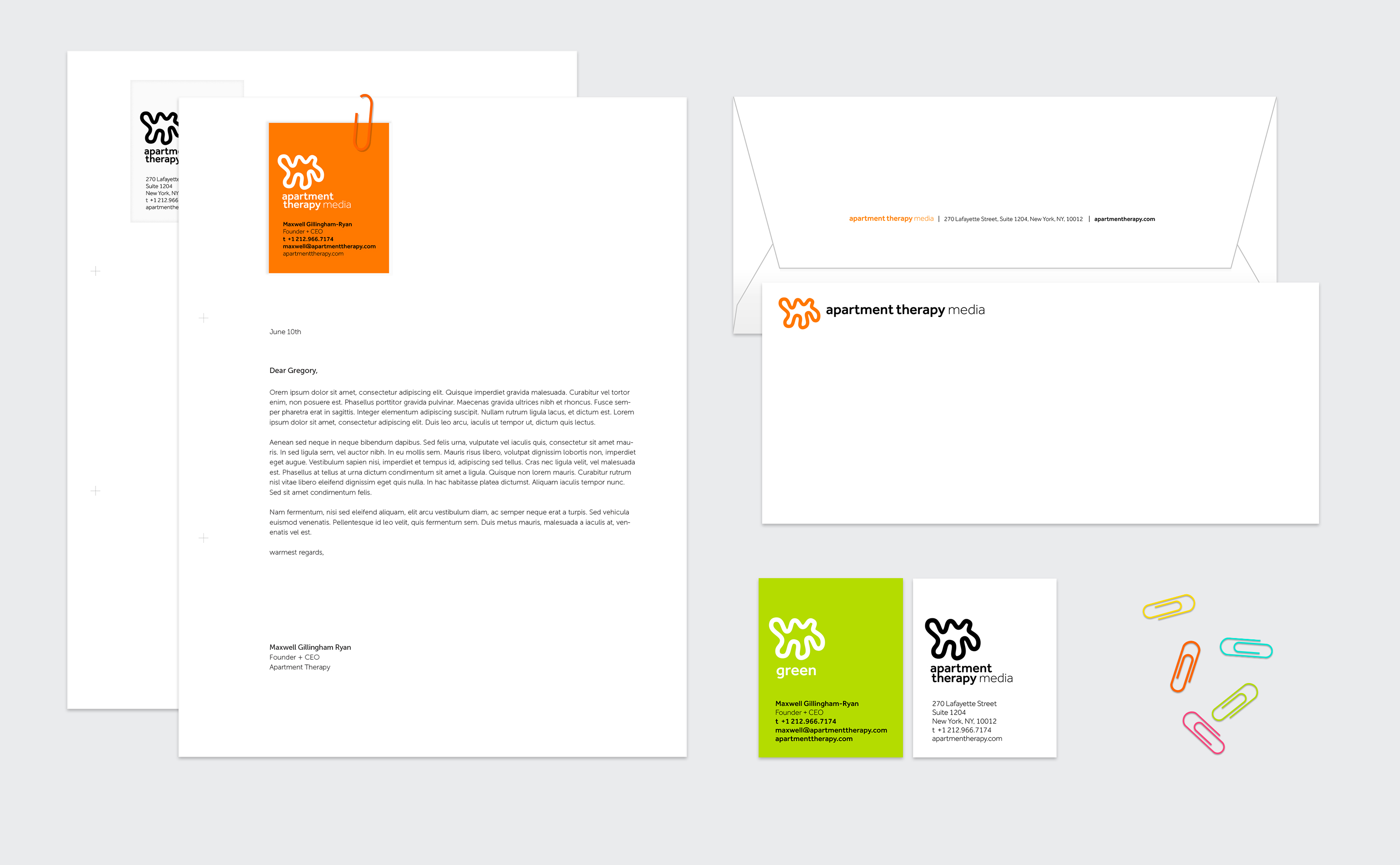 Apartment Therapy Category Ideny Services Provided Branding Creative Direction Design