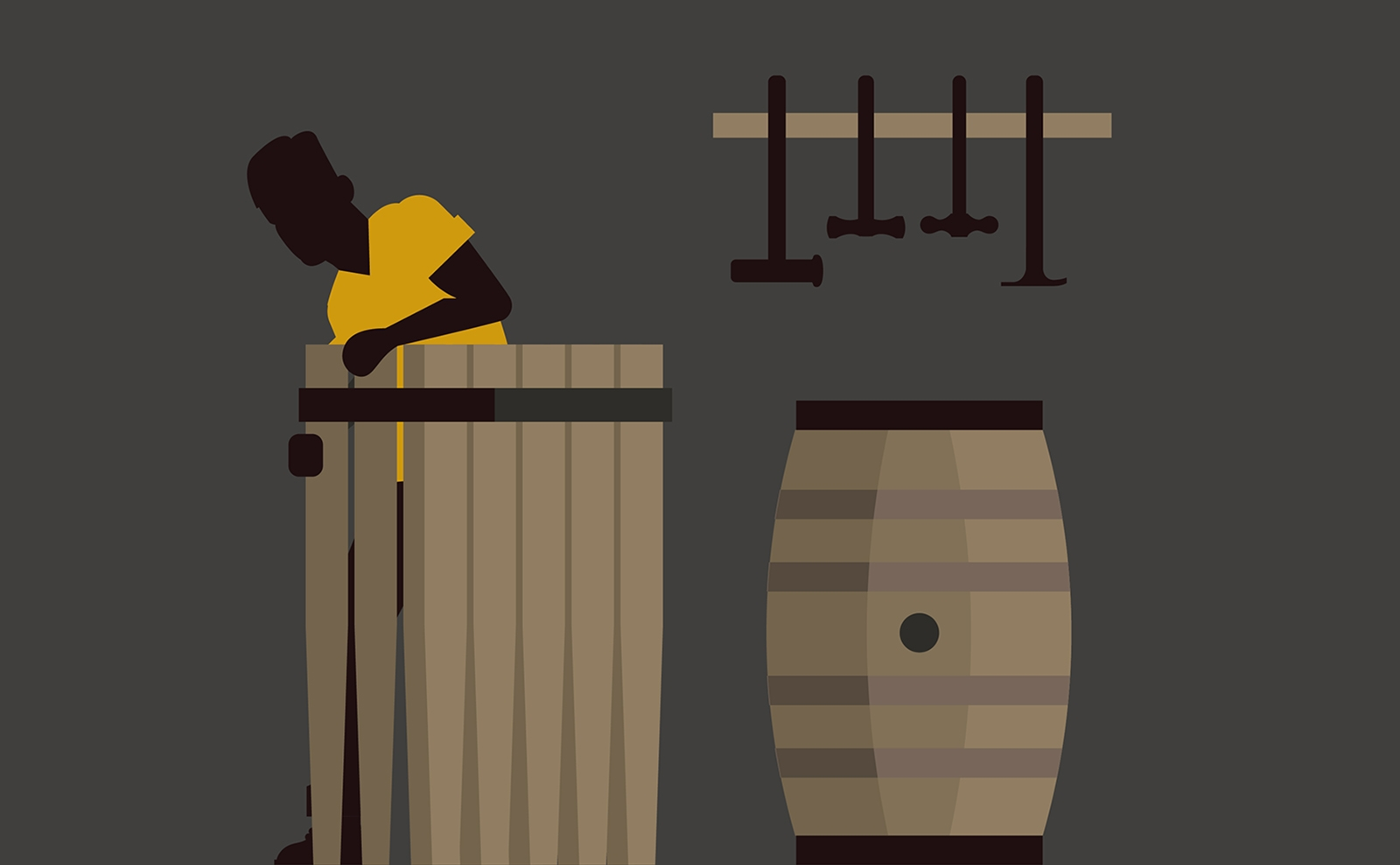 Balvenie Five Crafts illustration detail of casks