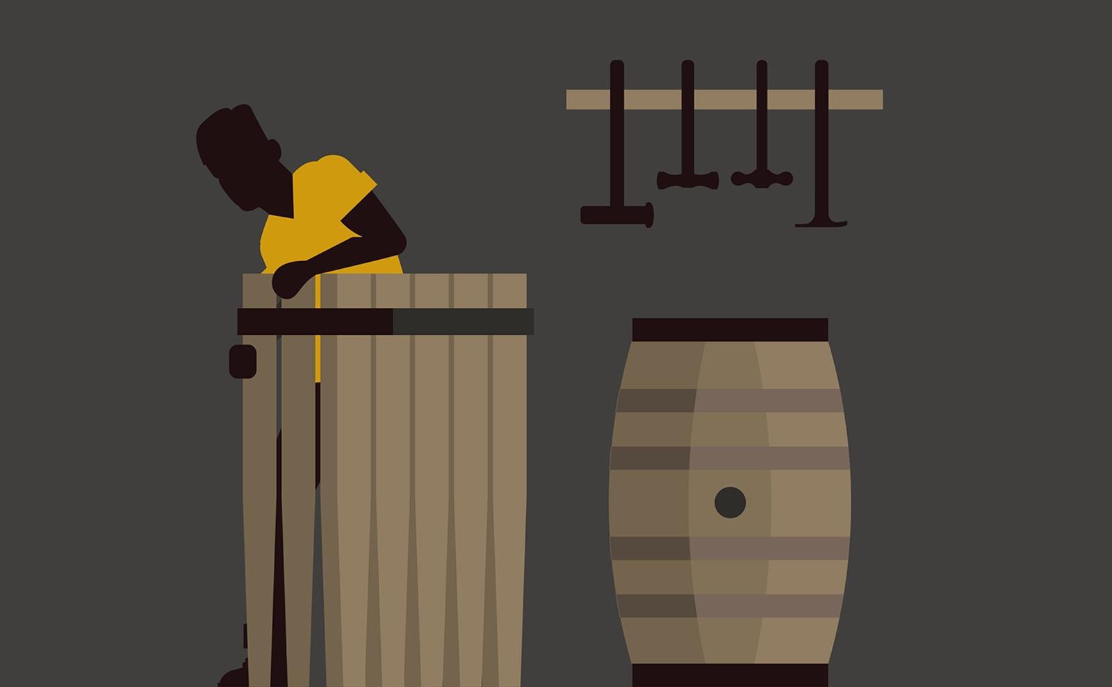 Balvenie Five Crafts illustration detail of casks