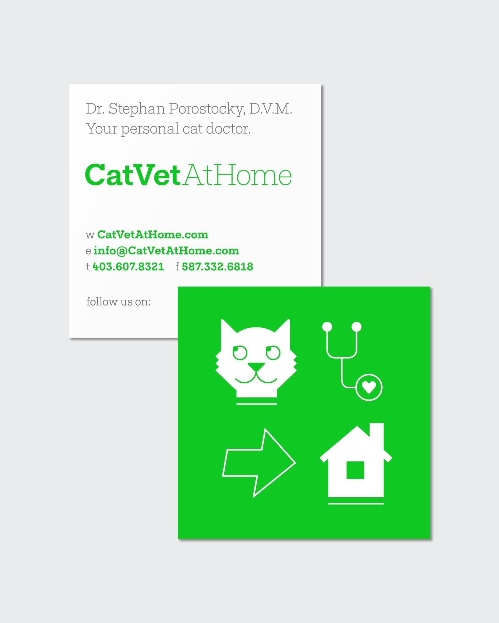 Cat Vet At Home business card design