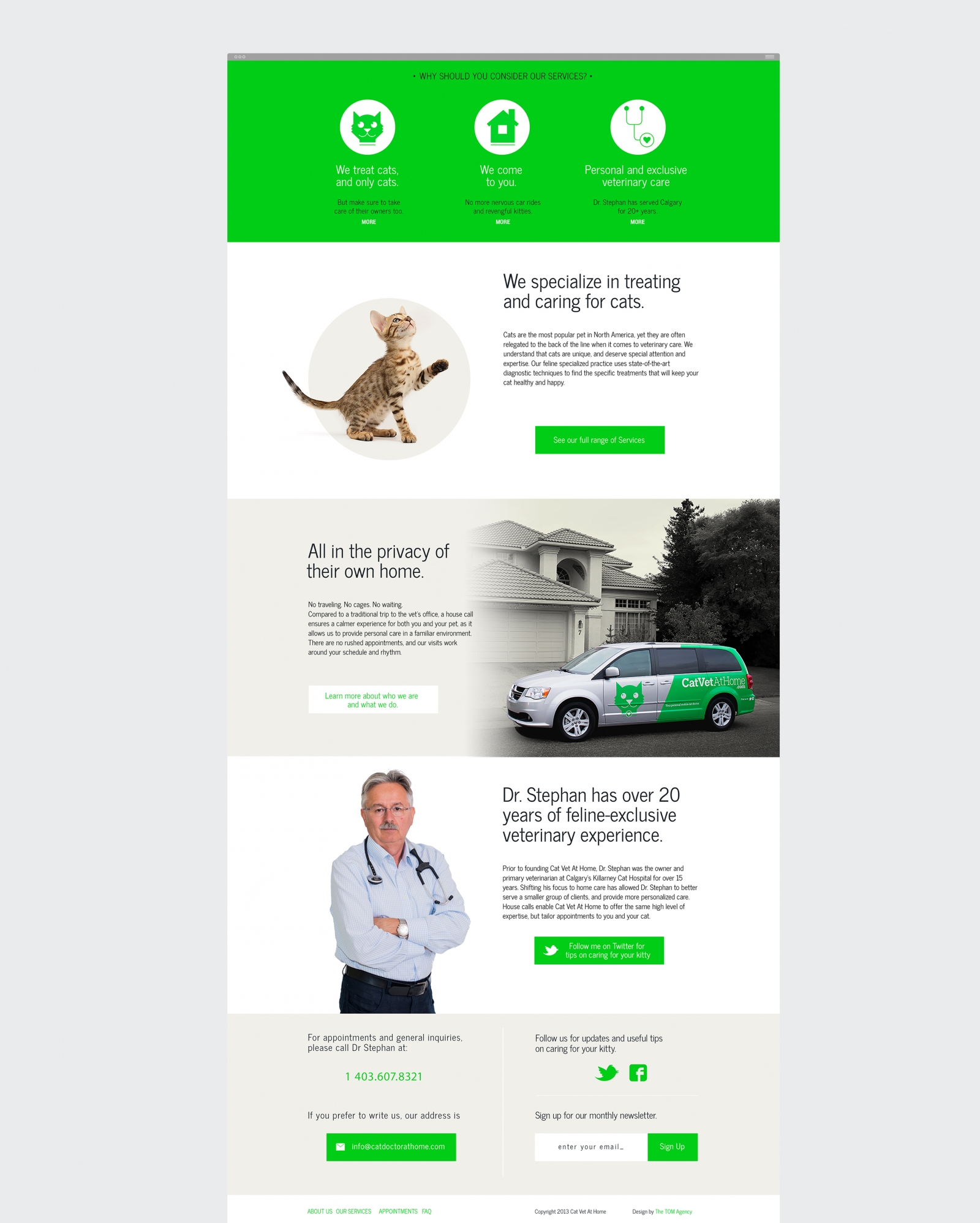 Cat Vet At Home website design