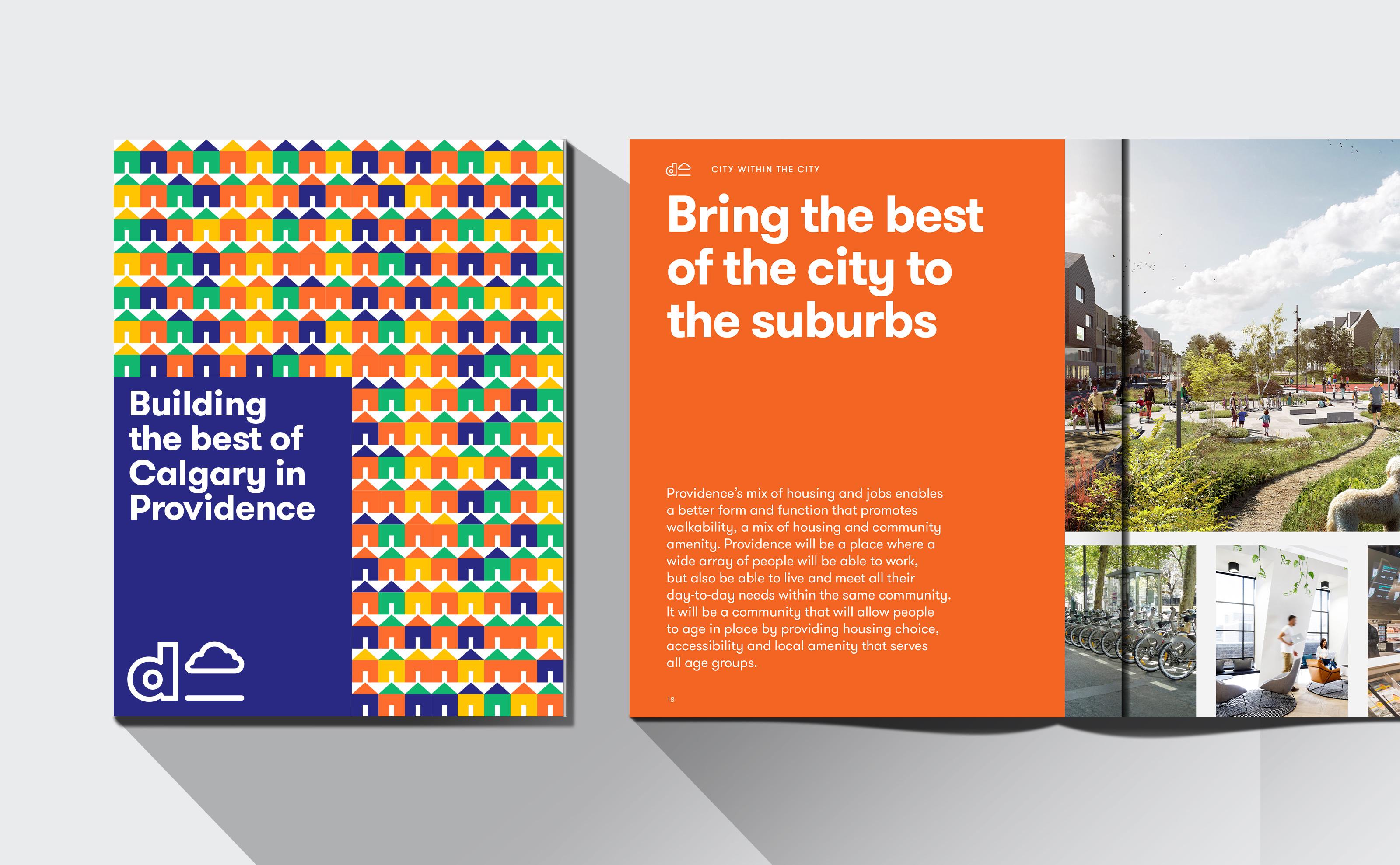 Dream Development Providence Development in Calgary book and presentation design