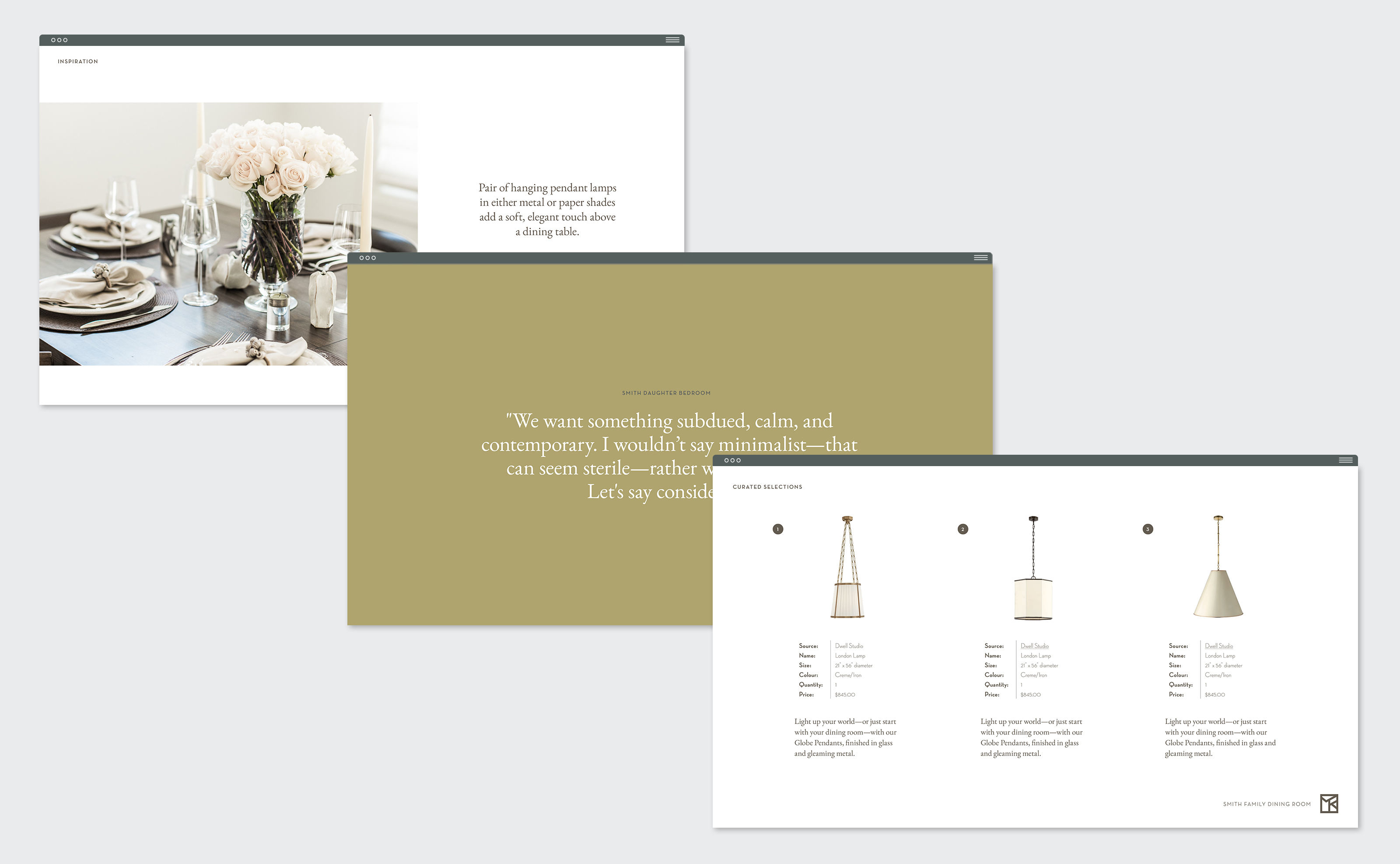 Morgan Kelly Interiors presentation design