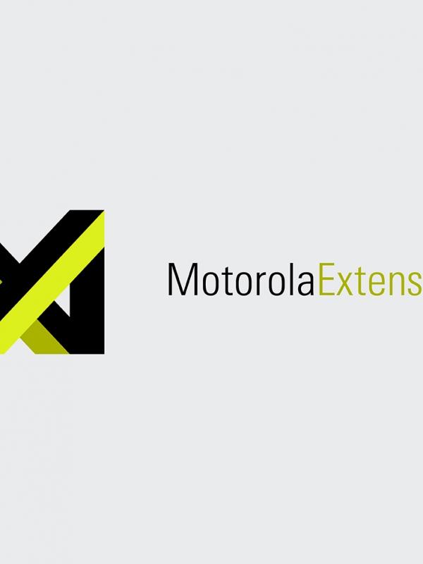 A logo for Motorola Extensions.