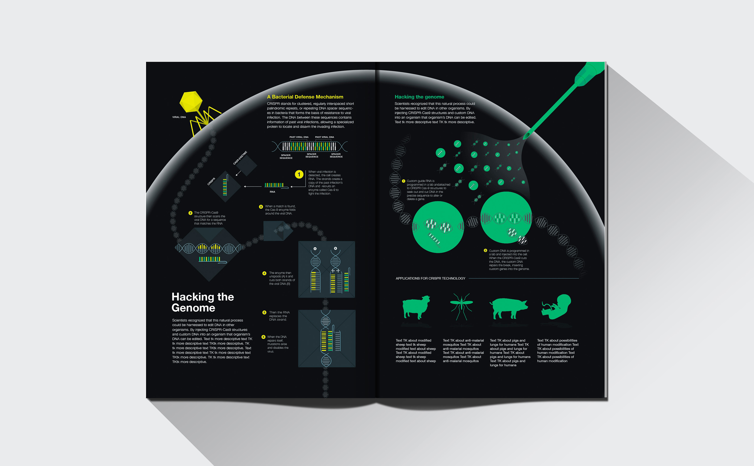 National Geographic Nat Geo Hacking Genome Crisp design layout