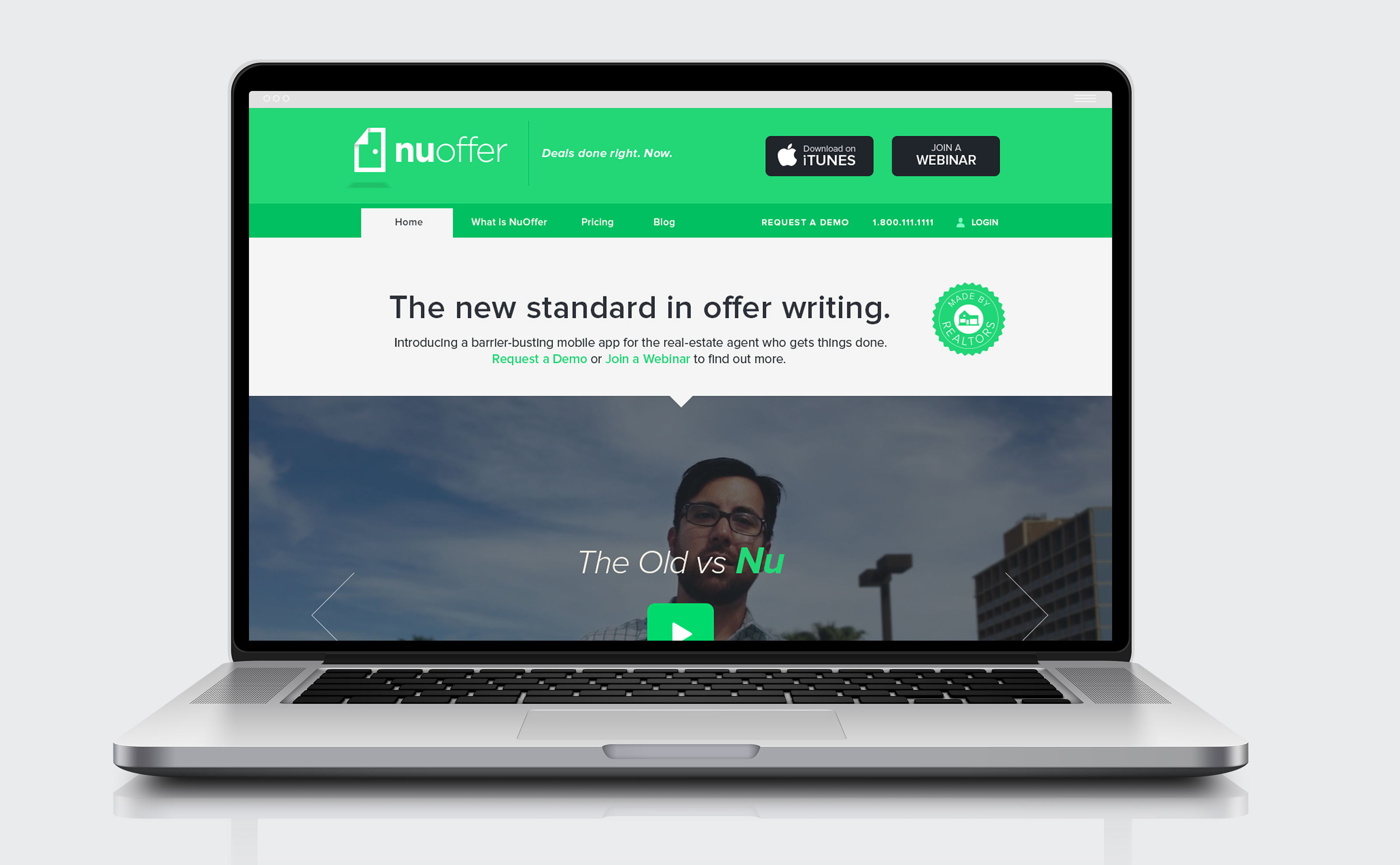 NuOffer brand identity and digital