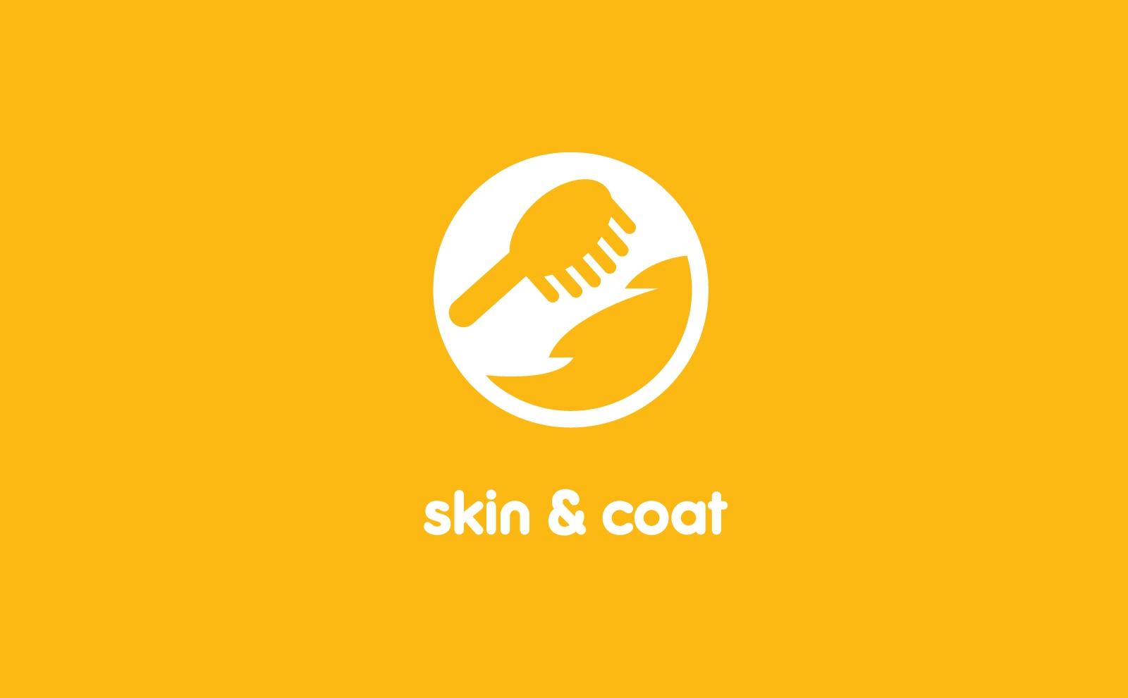 Pedigree dog food icons skin and coat