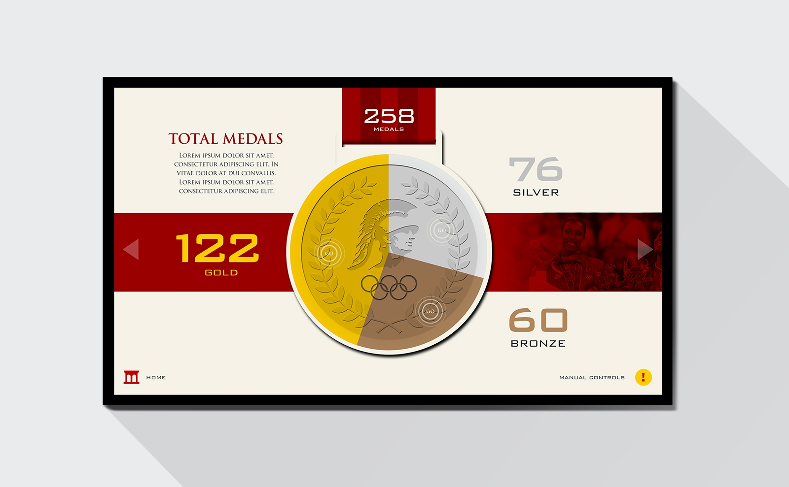 USC Interactive Screens total medals