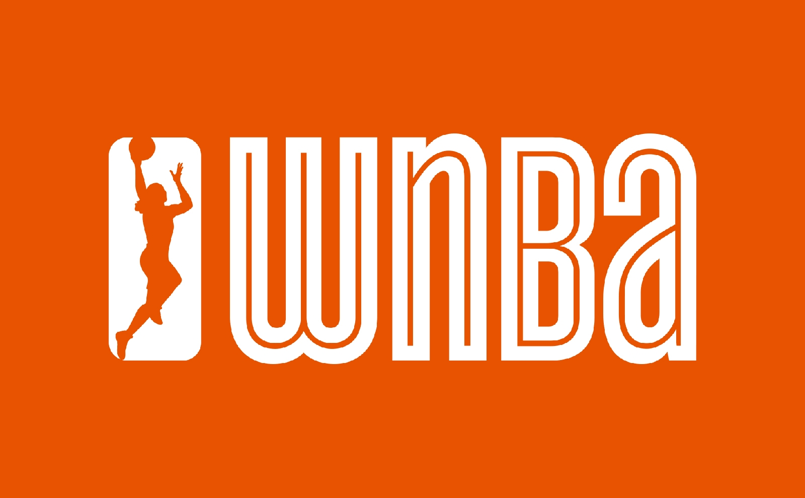 WNBA logo design with jumping woman