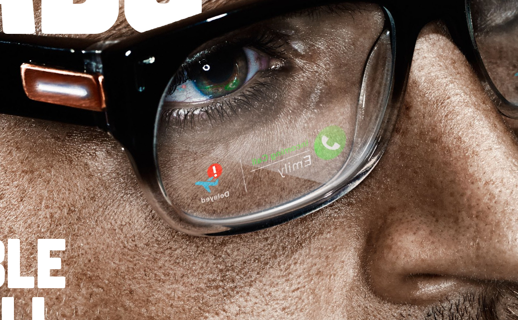 Wired Heads up Cover with smart glasses detail