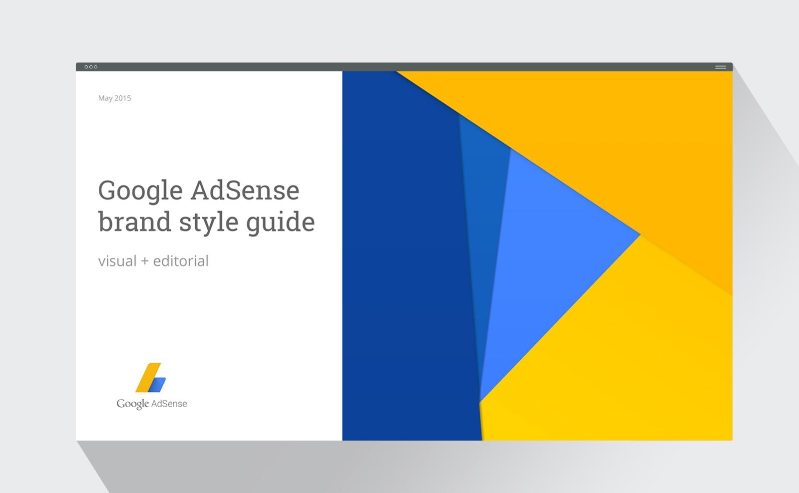 Google AdSense brand style guide design presentation