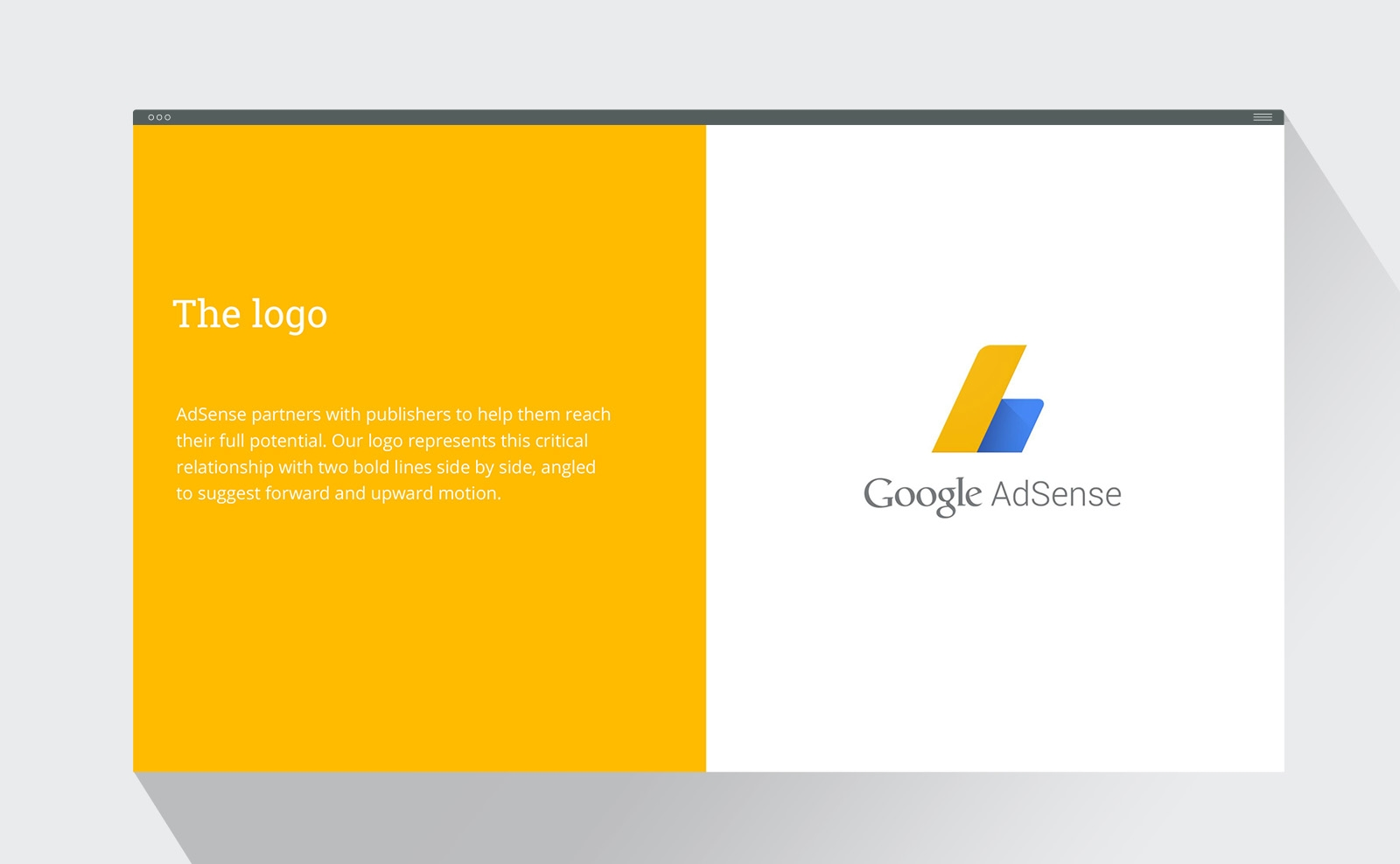 Google AdSense brand style guide logo
