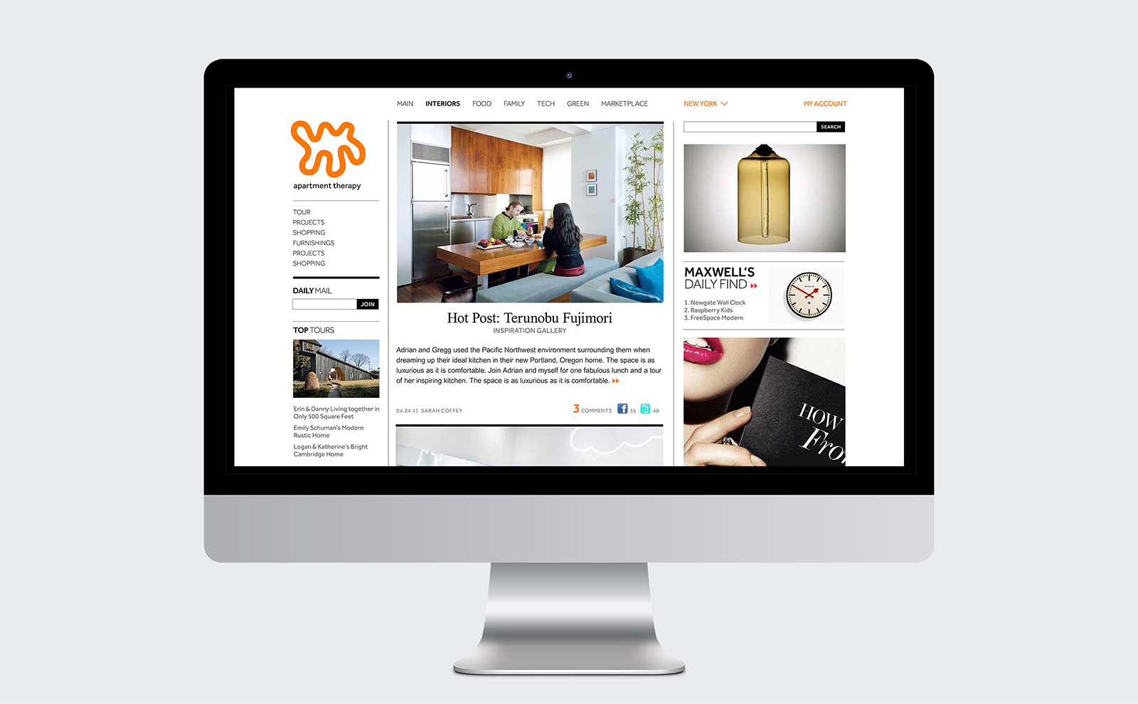 A website design for Apartment Therapy. — The TOM Agency