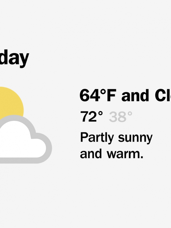 Weather icons for the New York Times.