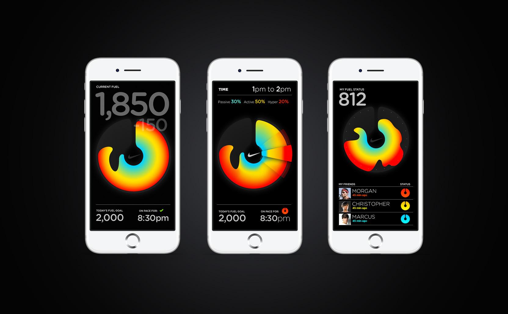 Nike Fuel liquid design phones