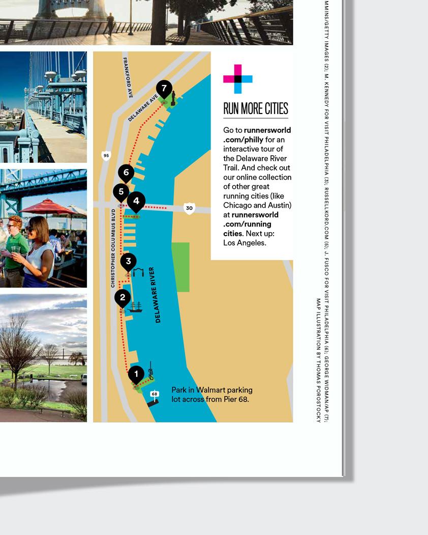 Runners World map of Philadelphia