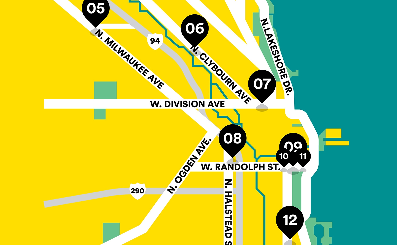 Runners World map of chicago