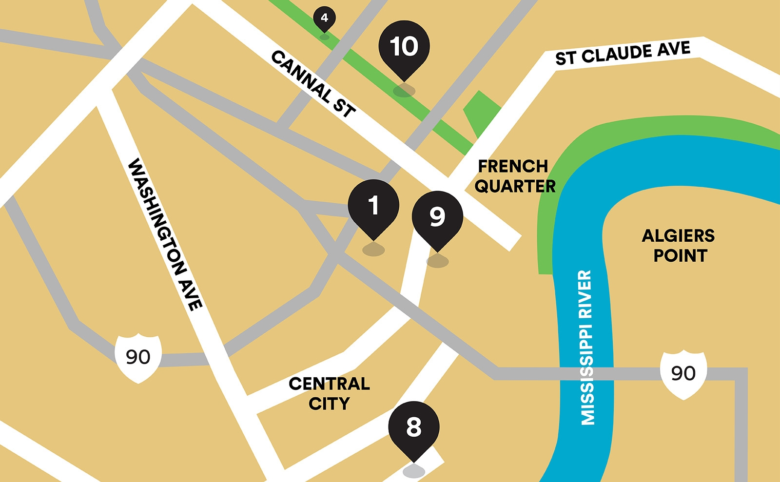 Runners World map of new orleans