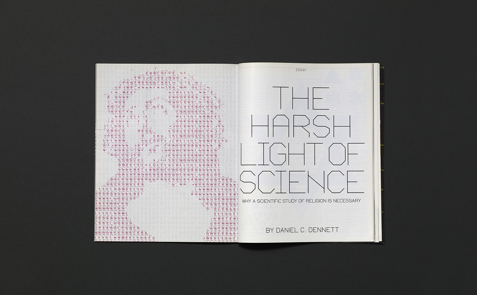 SEED magazine the harsh light of science jesus as periodic table illustration