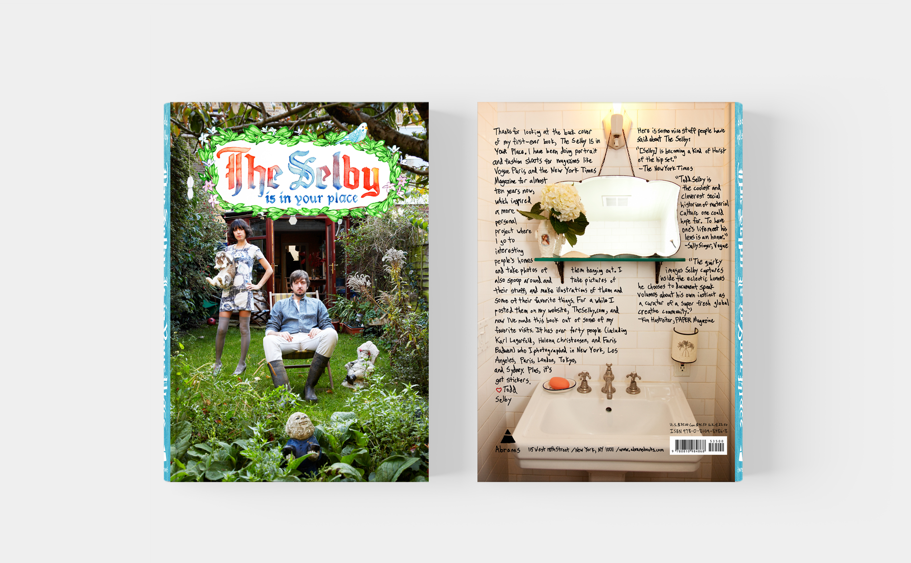 The Selby Todd Selby book design cover and back cover