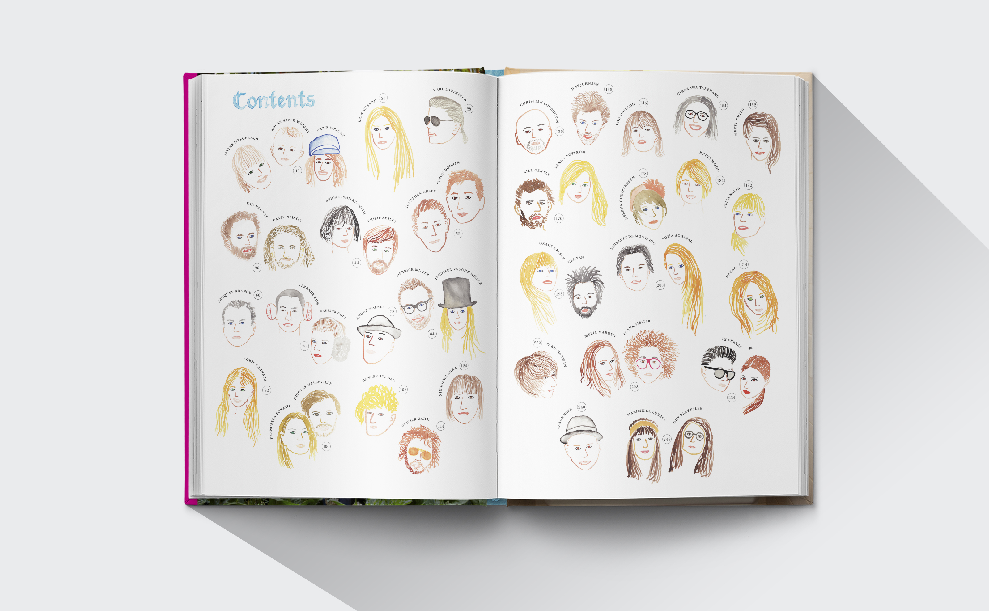 The Selby Todd Selby book design interior with portrait illustrations