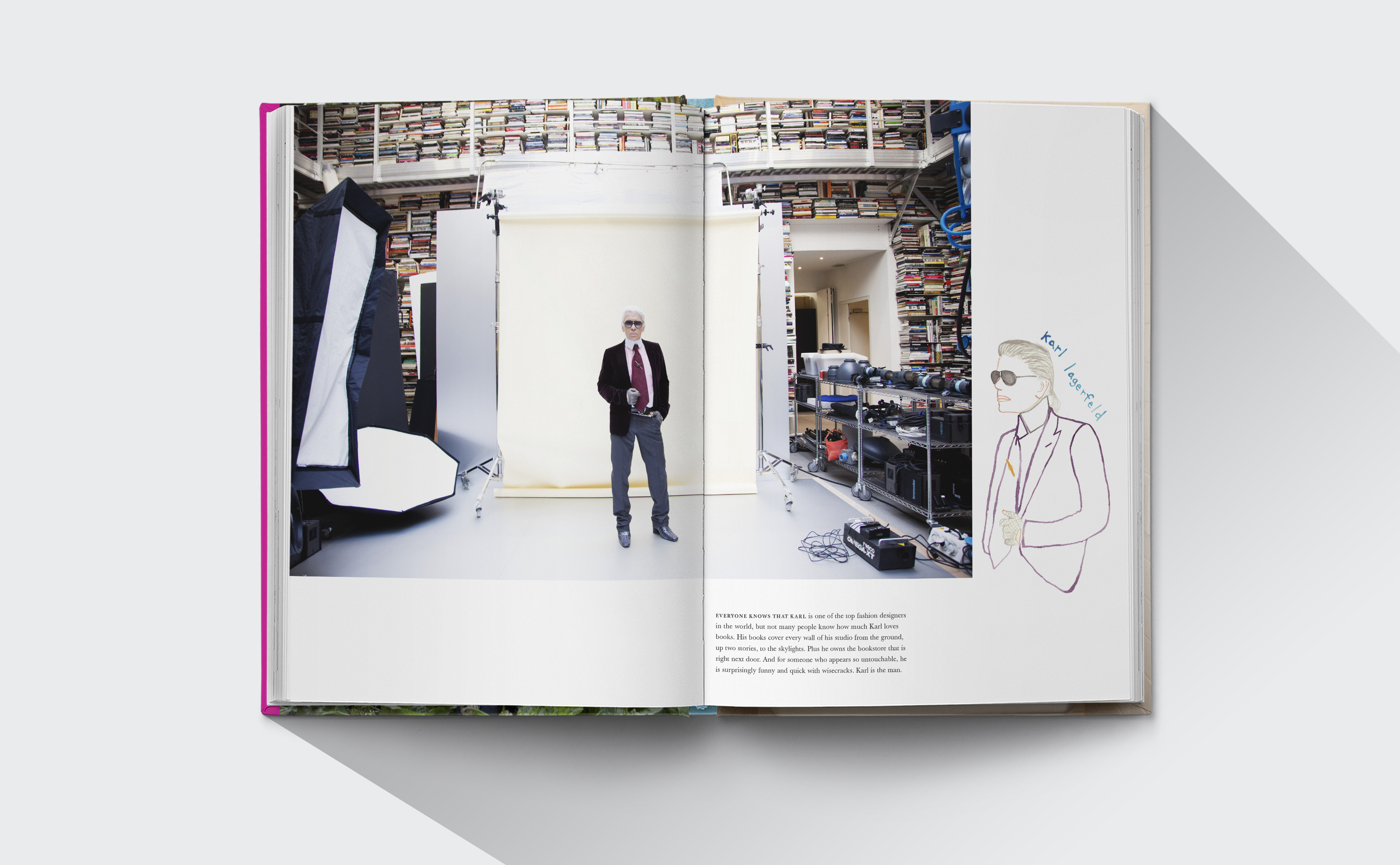 The Selby Todd Selby book design with Karl Lagerfeld photo