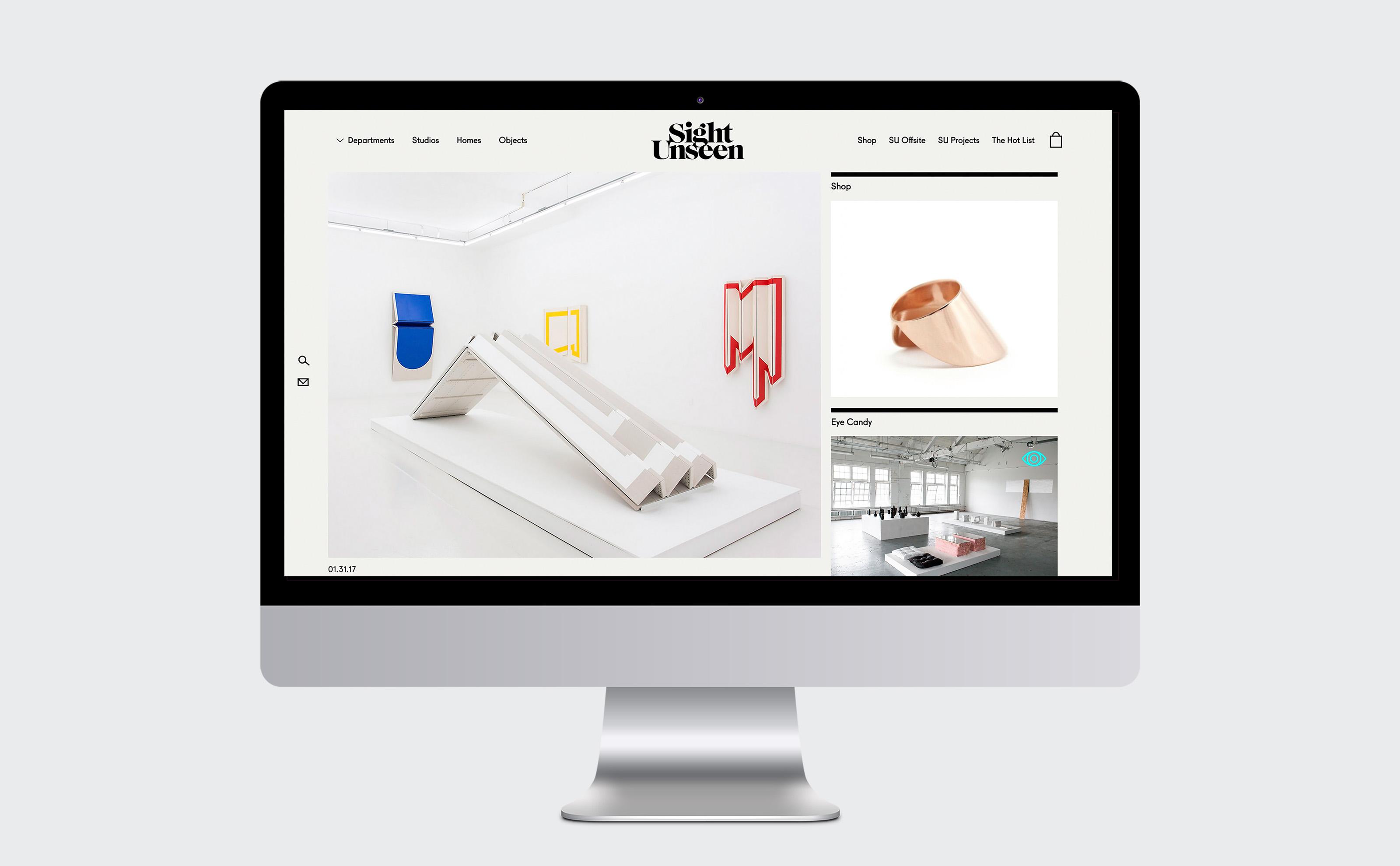 Sight Unseen dripping logo design website