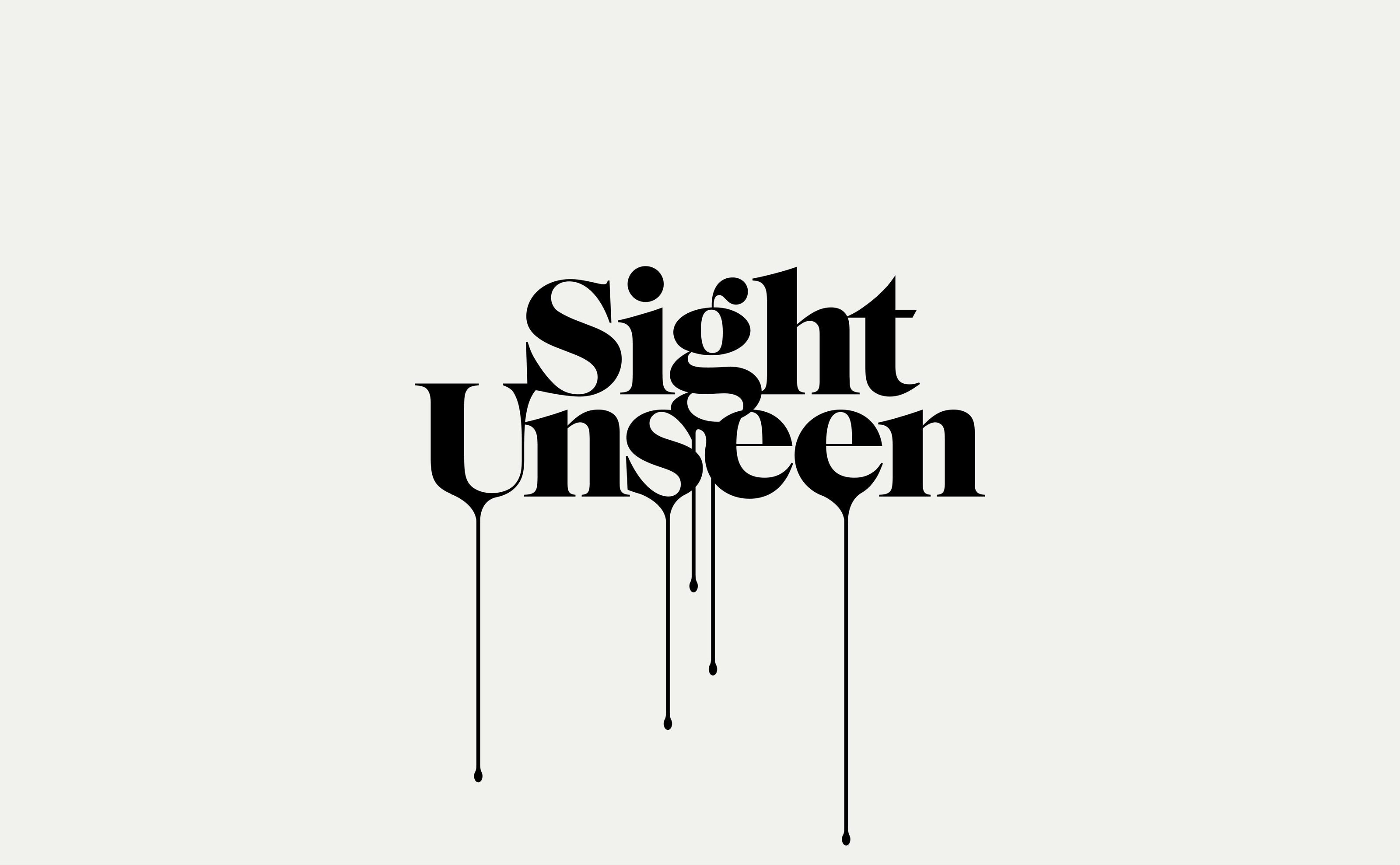 Sight Unseen dripping logo design