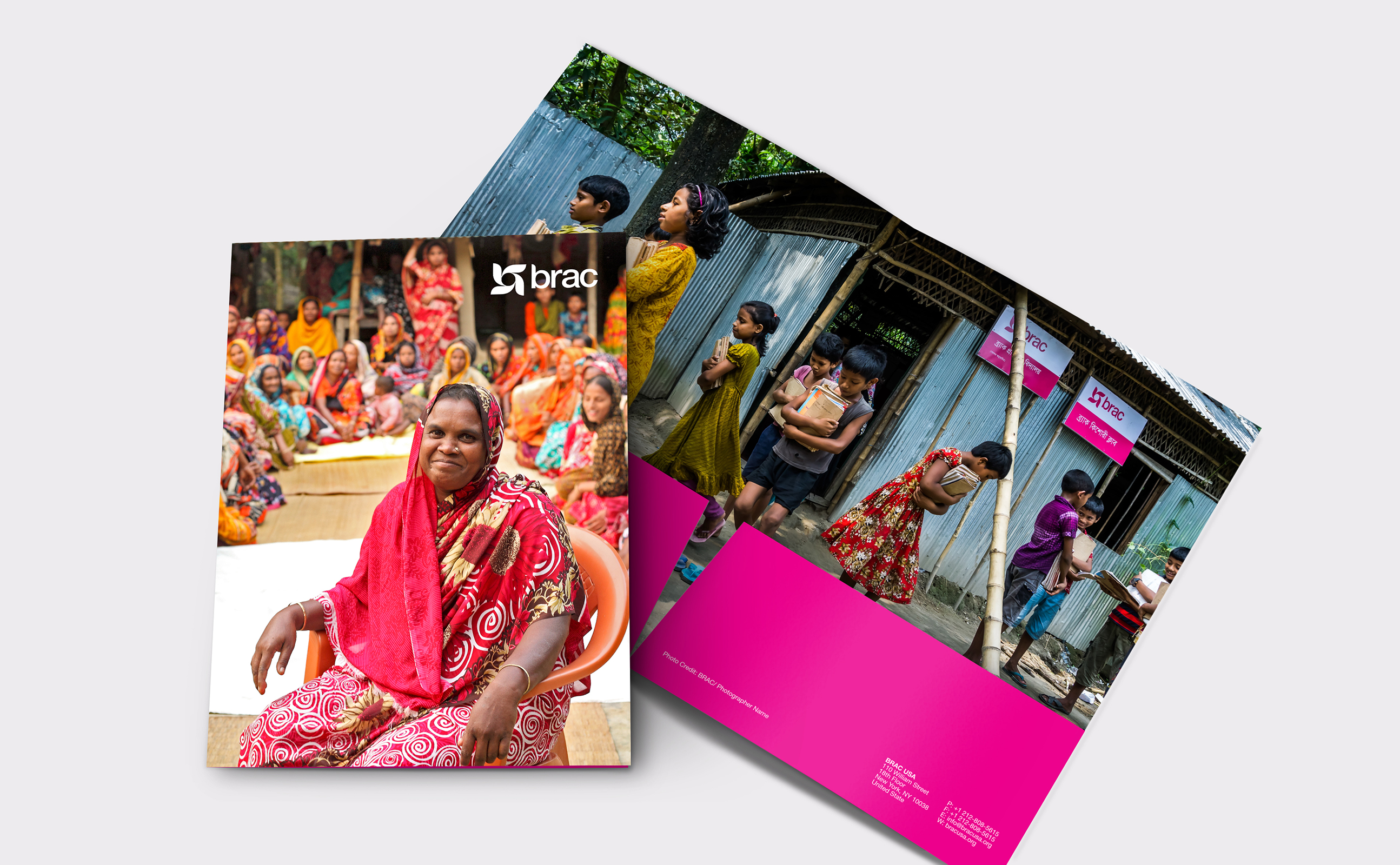BRAC annual report cover and report folder