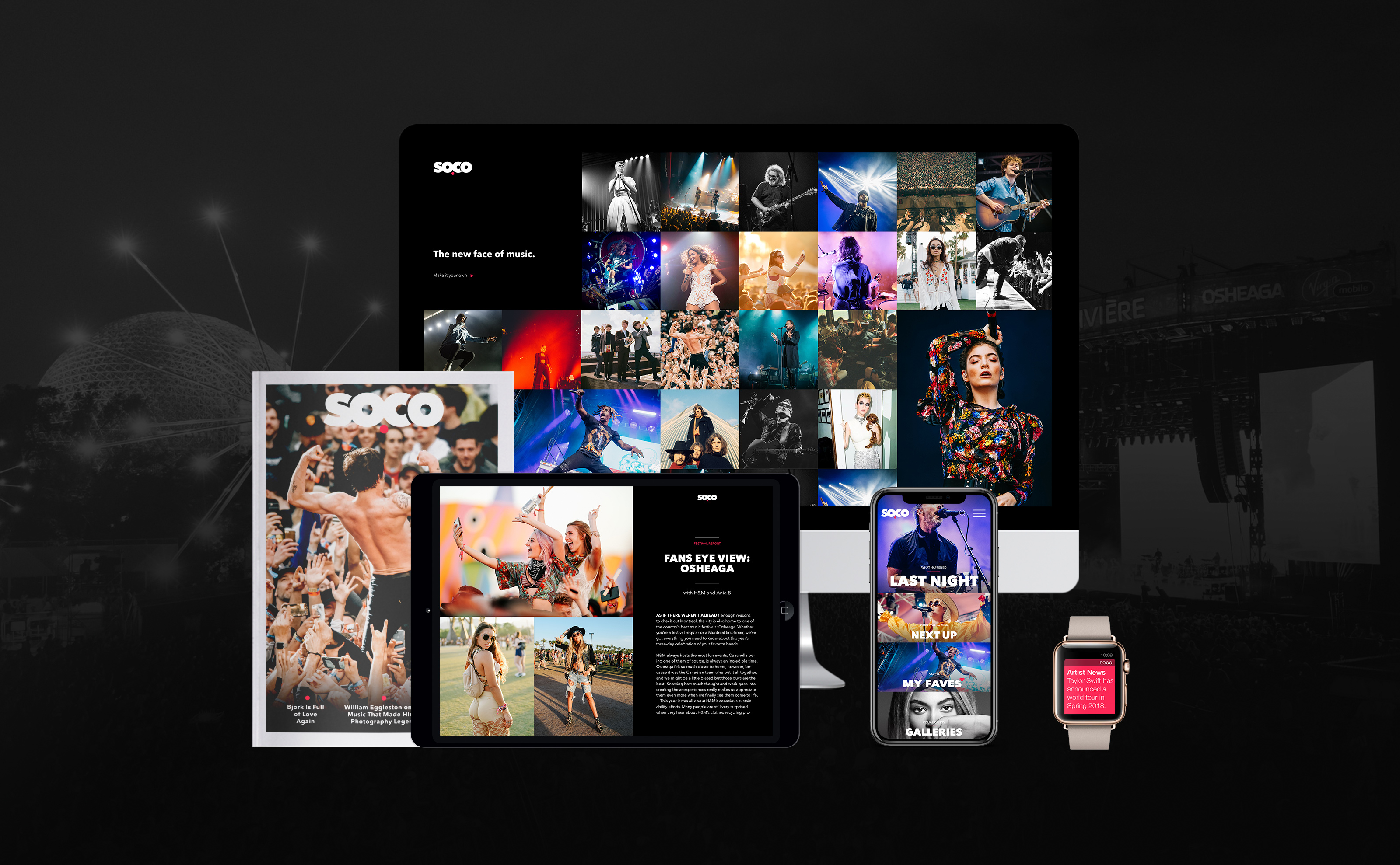 Soco digital devices phone imac iwatch booklet ipad design