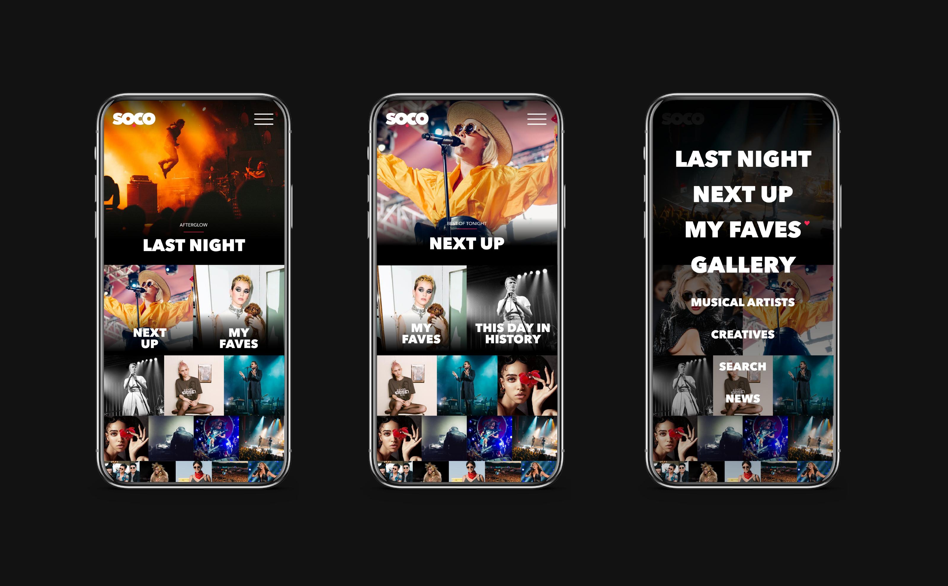 Soco mobile design on phones