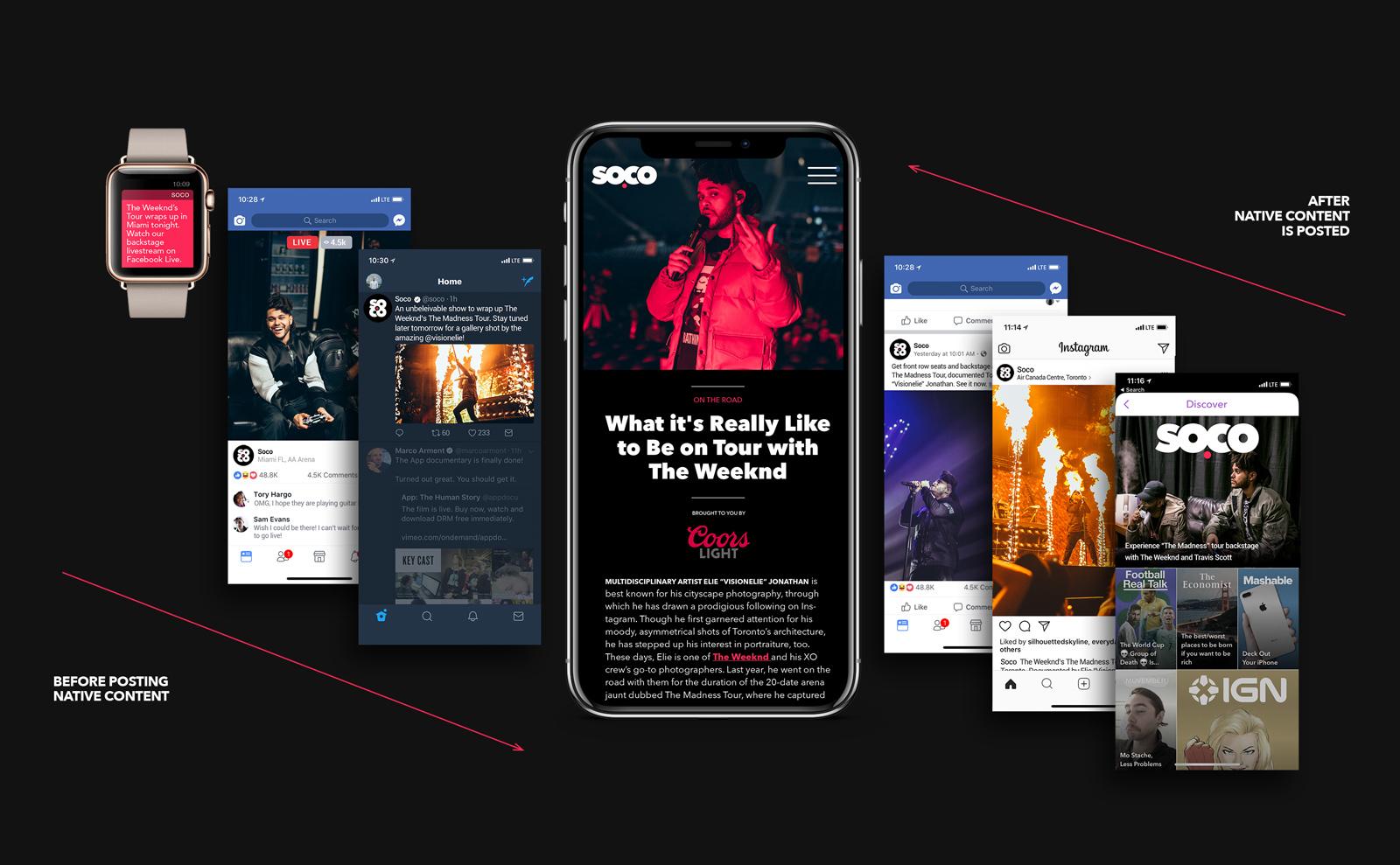 Soco social media design strategy