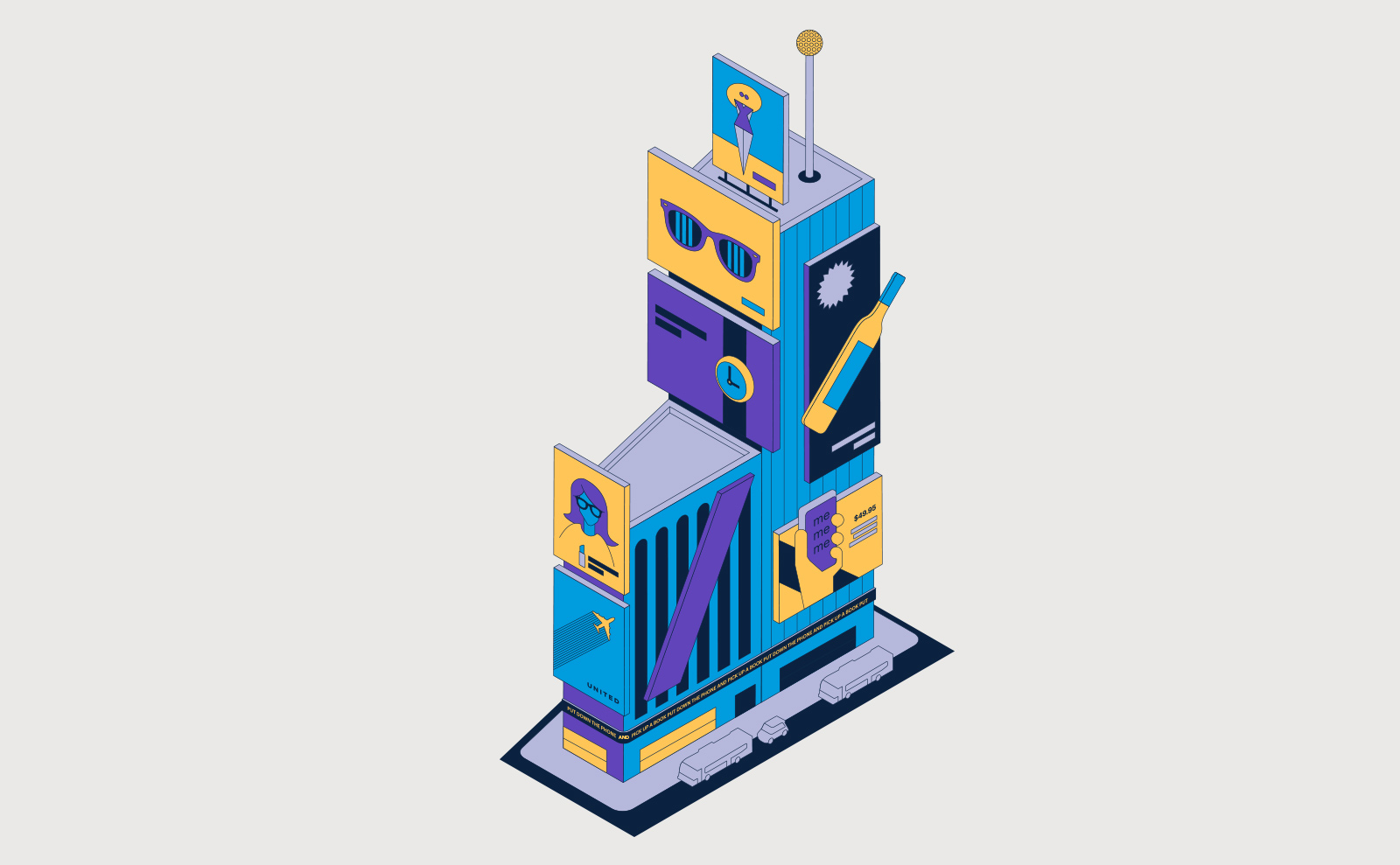 NYC Times Square illustration